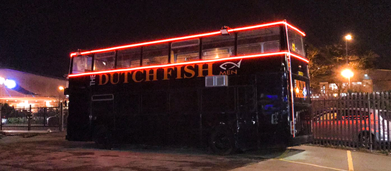 LED Neon Flex on Dutch Fish Bus