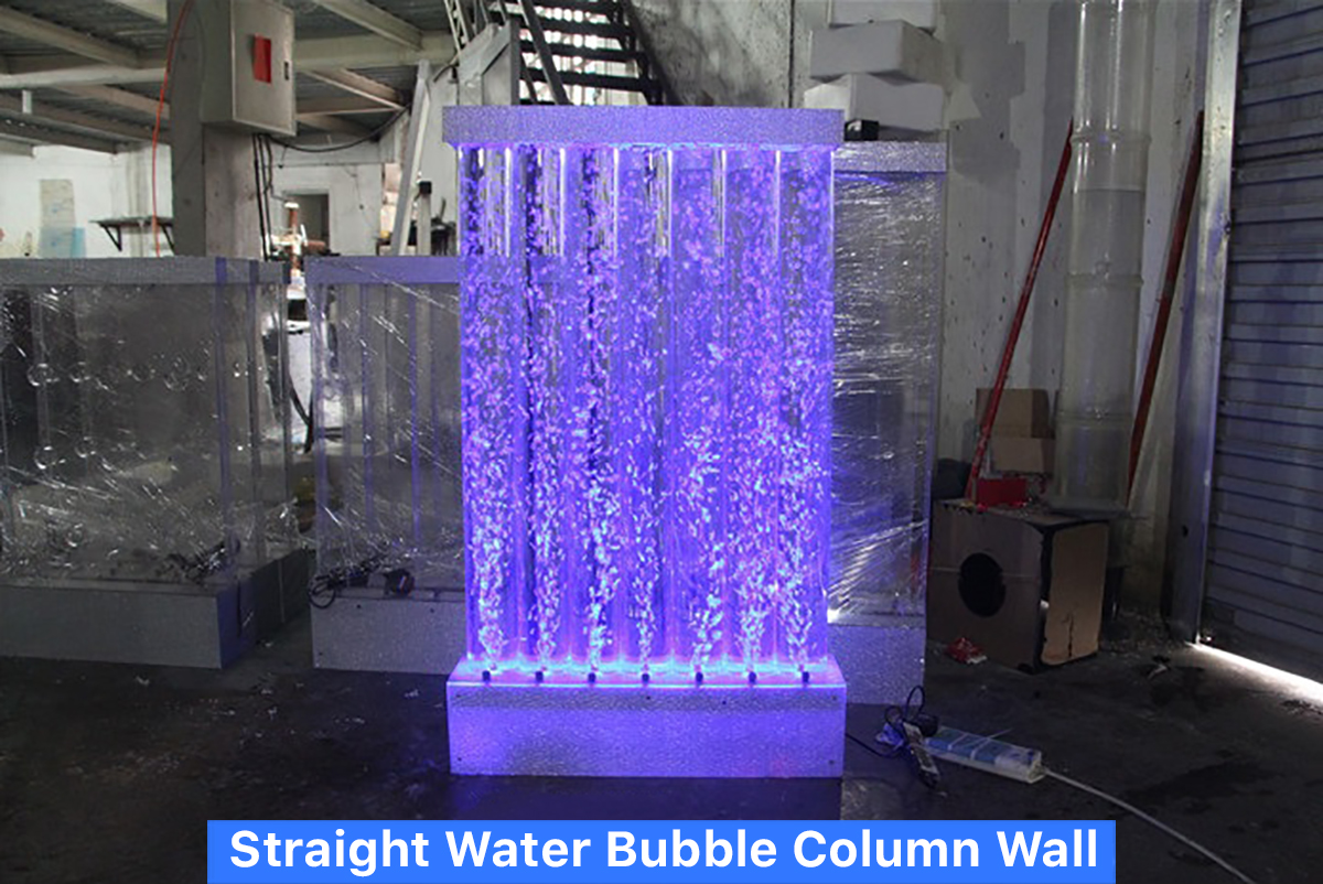 Straight Water Bubble Column Wall