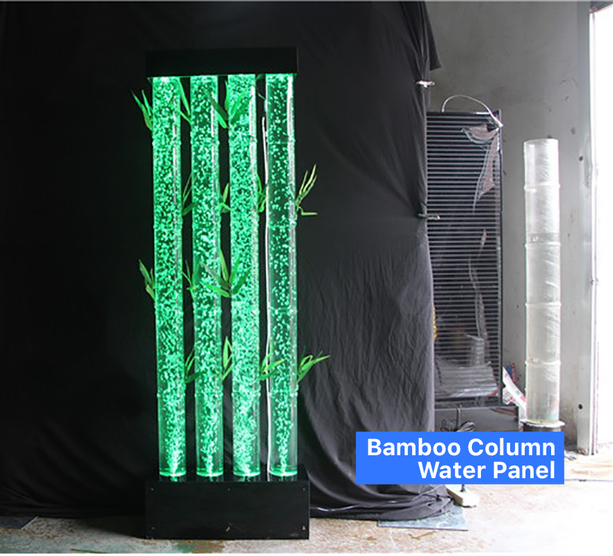 Bamboo Column Bubble Water Panel Feature