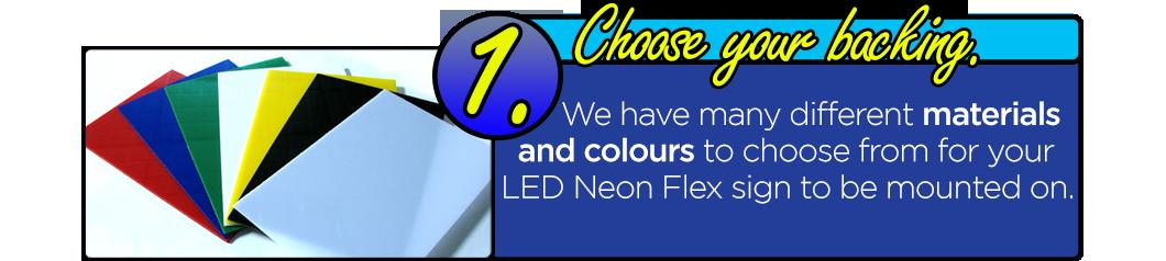LED Neon Flex Signage - Choose Your Backing