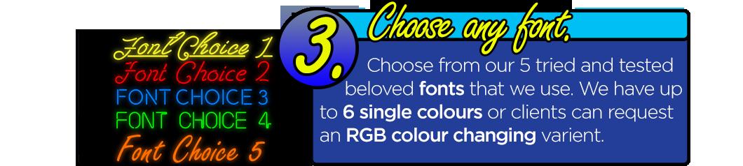 LED Neon Flex Signage - Choose Any Font