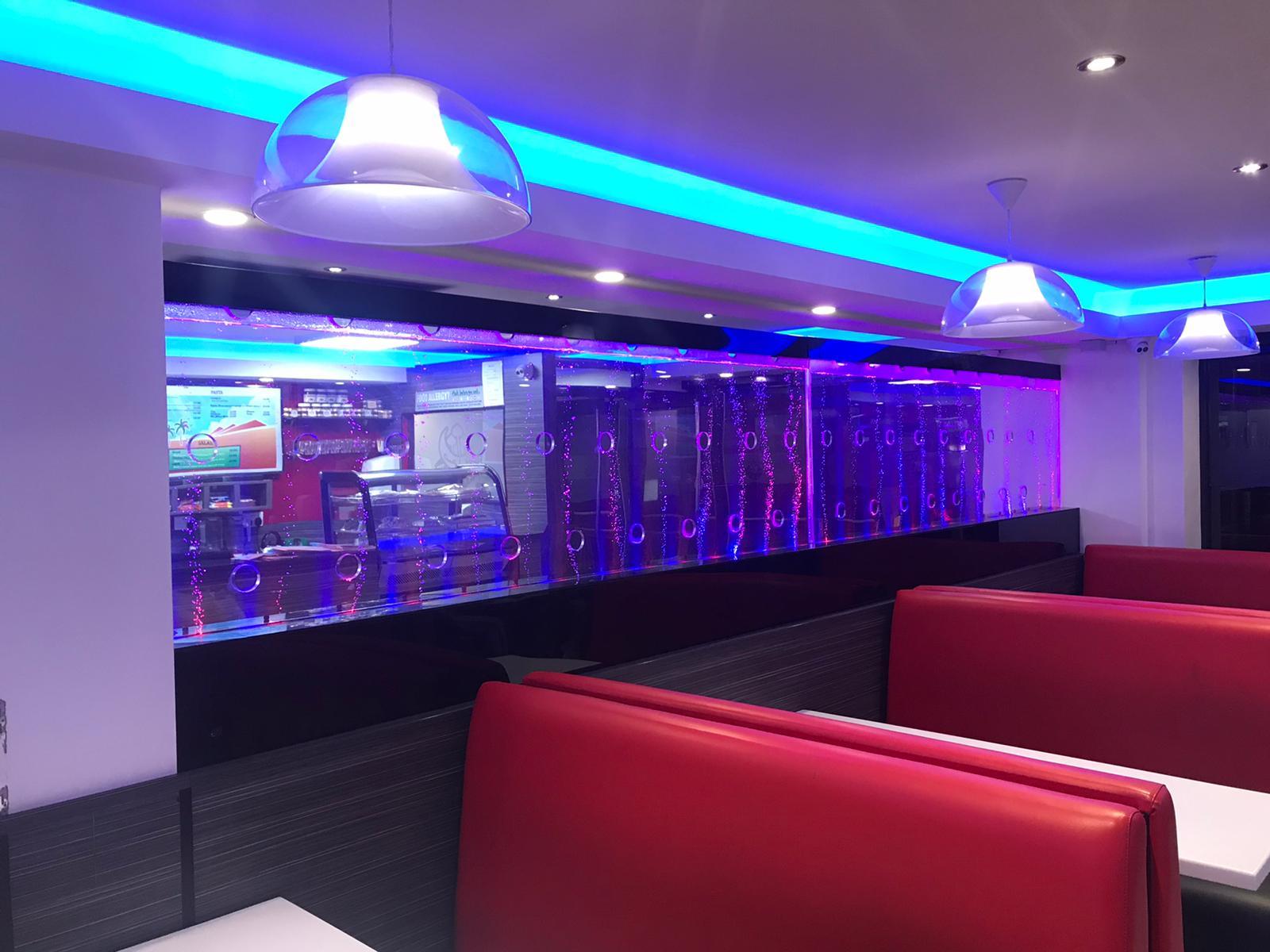 LED Bubble Walls Restaurant